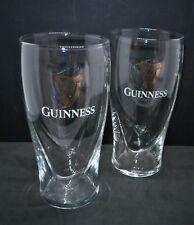 Set Of 2 Guinness Embossed Harp Pint Glasses 20oz Brand New 100% Genuine