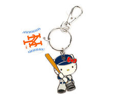 Sanrio Officially Licensed MLB Hello Kitty New York Mets Baseball Key Ring
