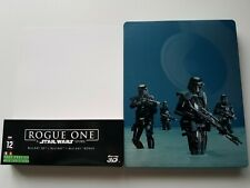 Star Wars Rogue One Steelbook Blu Ray + 3D