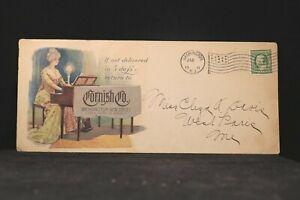 NJ: Washington 1911 Cornish Piano Legal Size Multicolored Advertising Cover