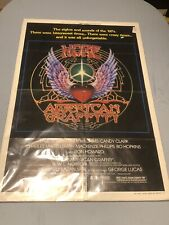 "1979 MORE AMERICAN GRAFFITI movie poster 27"" x 41"" GEORGE LUCAS Version A"