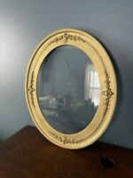 """Antique Gold Gilded OVAL Wood Frame With Glass Oval 26 1/4"""" X 22 1/4"""""""
