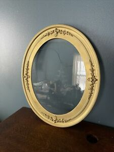 "Antique Gold Gilded OVAL Wood Frame With Glass Oval 26 1/4"" X 22 1/4"""
