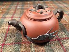 Yixing Miniature Small Tea Kettle Pot Glazed Pottery Amazing Stunning Flowers