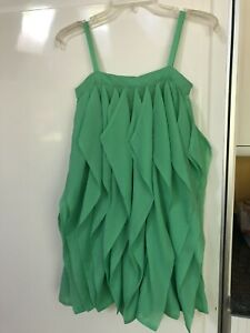 Gap Kids SPLASH Girls Green Vertical Ruffles Dress Size 10 Large