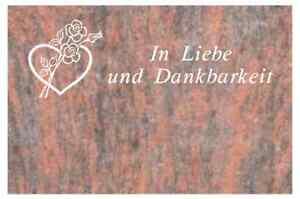 Grabmal  aus Naturstein ,Liegestein inkl.Inschrift und Ornament vertieft
