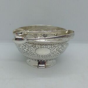Antique Sterling Silver London 1878 Sugar Bowl & Nips
