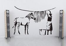 VINILO DECORATIVO PARA PARED CALIDAD EXTRA ZEBRA STRIPES Banksy Stile