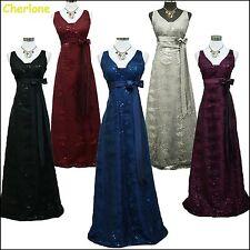 Cherlone Satin Ball Wedding/Evening Gown Sparkle Prom Bridesmaid Formal Dress