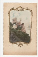 Germany, Burg Rheinstein Embossed Litho Postcard, A507