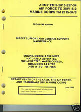 Engine, Diesel, 8 Cy, DDA Model 6.2 Liter, Depot Maintenance