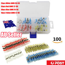 AU 100PCS Solder Seal Heat Shrink Butt Wire Connector Terminal Waterproof 4 Size