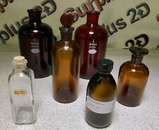 Lot of Assorted Vintage Lab/Apothecary Bottles - #2
