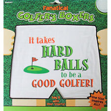 GOLF NOVELTY BOXERS (1 pair) ~ Birthday Party Supplies Gag Gift Adult Apparel