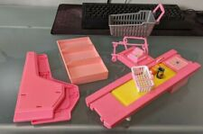 Barbie 1990's Supermarket Grocery Store Food Shelf Cart Checkout Barbie