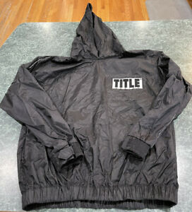 TITLE Boxing Black Sauna Training Windbreaker Jacket Adult Size Medium