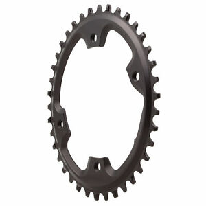 Absolute Black 110BCD asymmetric CX 1X oval chainring, 38T - black