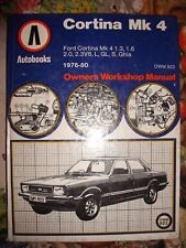 AUTOBOOKS WORKSHOP MANUAL FORD CORTINA MK4 76-80 2.3 V6 L GL Ghia 1.3.1.6 2.0