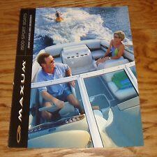 Original 2001 Maxum 1900 Sport Boats Foldout Sales Brochure 01 SR SC