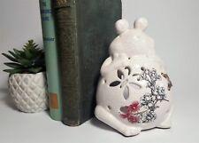 Vintage White Tea Light Frog