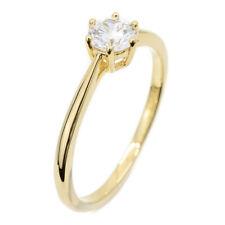 Esprit Damen Ring Sole Weiß 925er Silber Vergoldet mit Zirkonia - ESRG013912