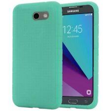 Fundas y carcasas color principal verde de silicona/goma para teléfonos móviles y PDAs Samsung