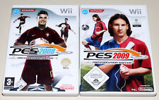 2 WII SPIELE SET - PRO EVOLUTION SOCCER PES 2008 & 2009 - FUSSBALL NINTENDO
