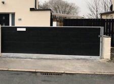 Modern Metal Drive Gates Sliding panels Wooden Gates Sheds garden Entrance Thick
