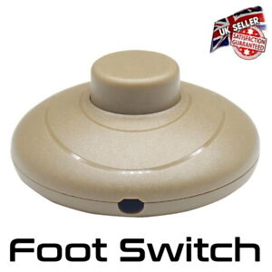 Foot Floor Switch In Line Push Button Press For Lamp Light in Gold