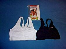 Size 34 New in Bag Hanes Pullover Racer back Crop Top Wire Free Sports Bra D370
