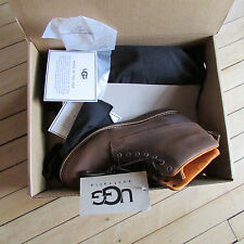 UGG Shoes Boots Goodwin Chestnut Leather 10 NEW $295
