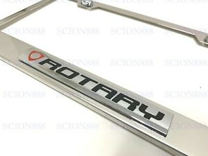 1pc 3D ROTARY Emblem Stainless Steel Chrome Metal License Plate RX-7 RX-8 PICKUP