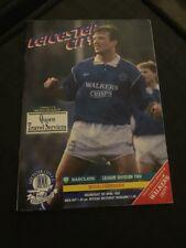 Leicester City V Middlesbrough 1992 Soccer/football Programme