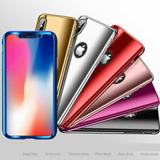 360° Plating Phone Case Slim Mirror Full Coverage For Apple iPhone X 8 7