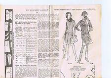 """PATRON DE COUTURE """"Femmes d'Aujourd'hui""""  un ensemble raffiné    taille 46"""