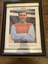 Bobby Moore Photo With Signature.