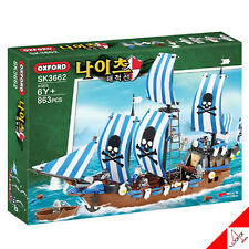 Oxford Knights PIRATE SHIP Brick Mania Building Block Assembly Kit Toy #SK3662