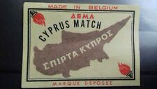 1950 CYPRUS  GREEK ISLAND MAP GREECE KYPROS MATCHBOX LABEL (EXTREMELY RARE ).