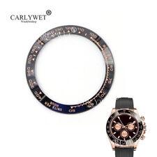 TOP Grade Black/Rose Gold Ceramic Bezel Insert For Daytona Watches 116500 116520