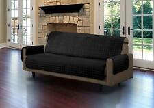 Quilted Sofa Cover Protector Microfiber Furniture Cover Black Sofa Futon Fabric