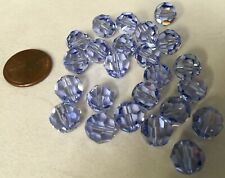 TWENTY-FOUR (24) 10mm PROVENCE LAVENDER Round Swarovski Crystals Style 5000