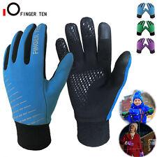 Winter Handschuhe Kinder Fahrrad Warm Sport Ski Schule 4-15 Jahre Blau Lila DHL