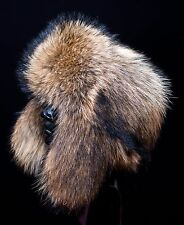 Genuine Canadian Raccoon Fur Men's Winter Handmade Trapper Ushanka Hat