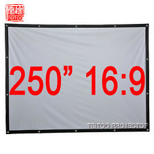 "250""16:9 White Portable Front Projection Projector Screen Watching Movie Outside"