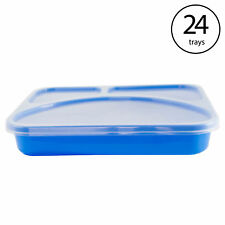 Life Story Meal Prep Kit Reusable Divided Plastic Lunch Box Container (24 Pack)