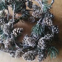 104cm Frost Larix Zapfen Girlande Deko Tannengirlande Plastik Aussen Dekoration