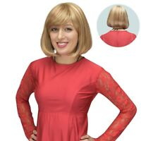 Synthetic Straight Bob Style Cindy Wig Crossdressers - Strawberry/Bleach Blonde