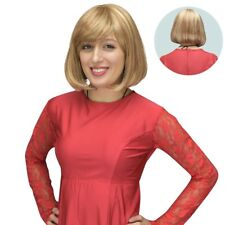 Synthetic Straight Bob Style Cindy Wig Crossdressers - Strawberry/Bleach Blonde