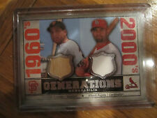 2008 SP LEGENDARY CUTS ALBERT PUJOLS/ORLANDO CEPEDA GENERATIONS DUAL JERSEY CARD