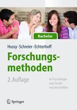 Forschungsmethoden in Psychologie und Sozialwissenschaften für Bachelor von Gerald Echterhoff, Walter Hussy und Margrit Schreier (2013, Set mit diversen Artikeln)